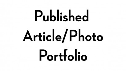 Published Article and Photo Portfolio